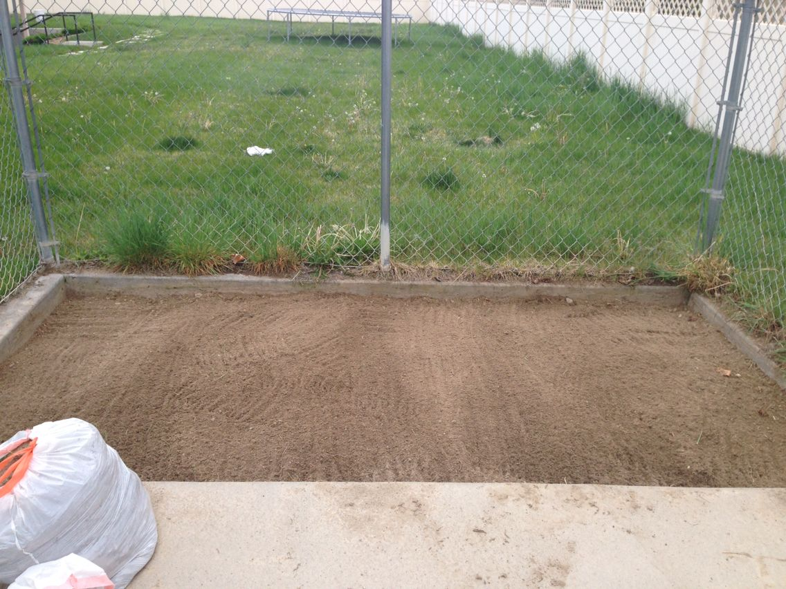 Weeds pulled, and leveled out. Time to put my cardboard down and then my box!  more to come