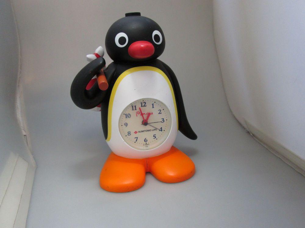 Rare Japanese Talking Pingu Alarm Clock Sumitomo Life Clock