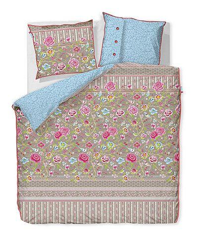 pip studio bettw sche 39 botanical garden 39 155x220 cm khaki kissen decken deerberg. Black Bedroom Furniture Sets. Home Design Ideas
