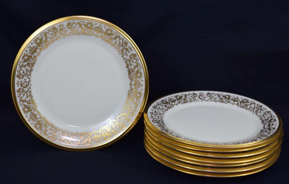 Lenox Tuscany China Bread Butter Plates Ivory Gold Dinnerware 8 ...