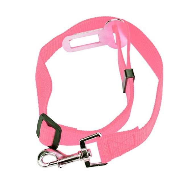 Pet Car Seat Belt Harness Lead Clip Safety Vehicle For Cat Dog - Pink / XL