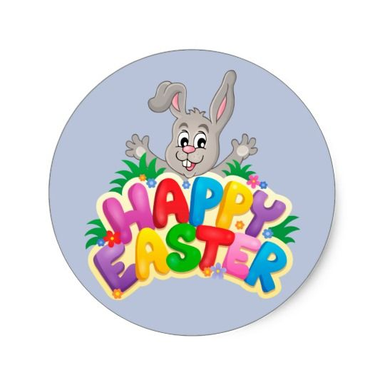 Round Easter Stickers