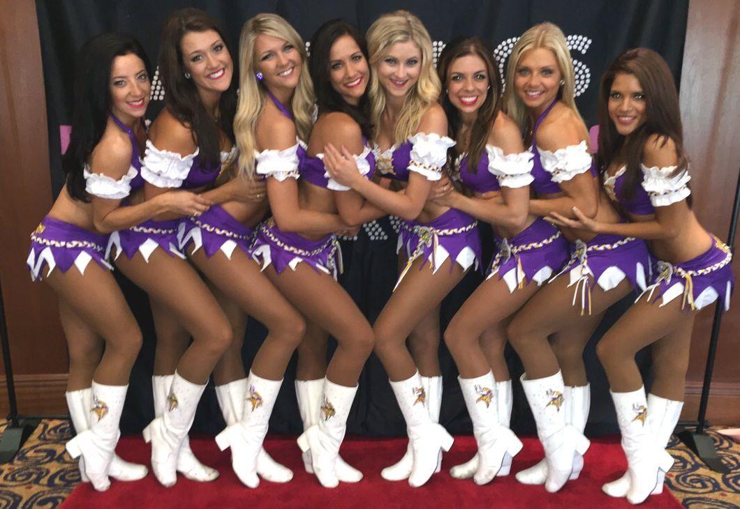 Minnesota Vikings Cheerleaders in their signature uniform!  ea0c38681
