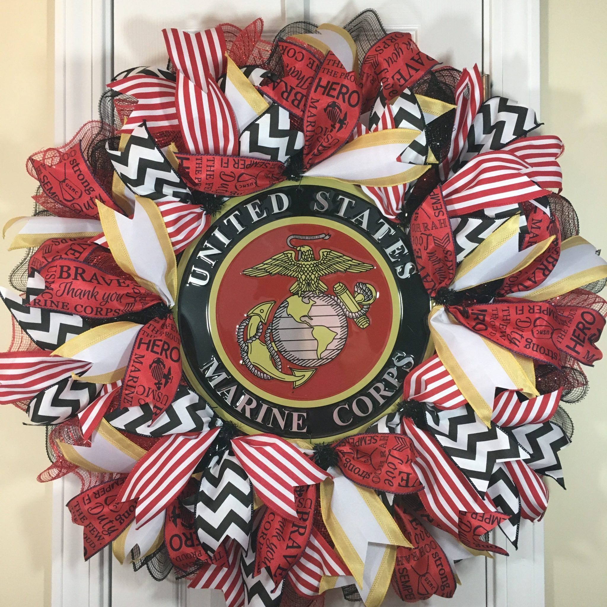 Marine corps wreath usmc wreath sports wreaths usmc