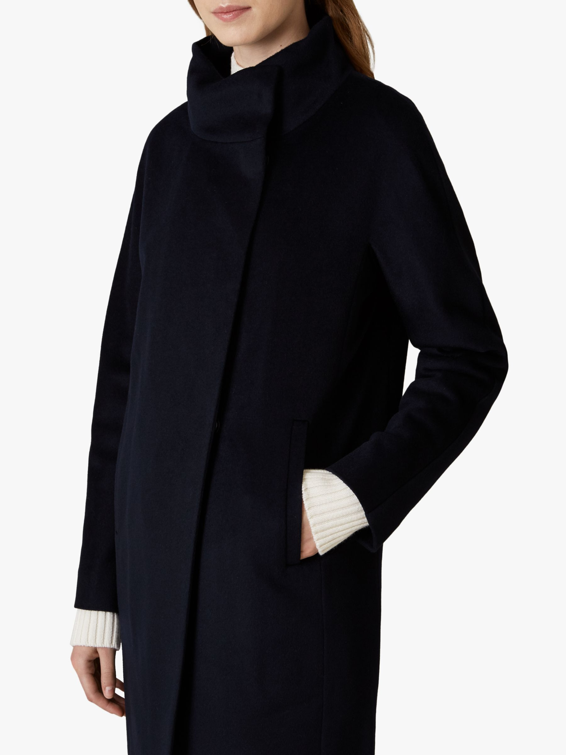 Jaeger Funnel Neck Wool Coat in 2020 Cocoon coat, Funnel