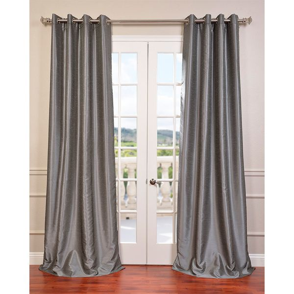 Textured Dupioni Faux Silk 96 Inch Blackout Grommet Curtain Panel Ping Great Deals On Eff Curtains