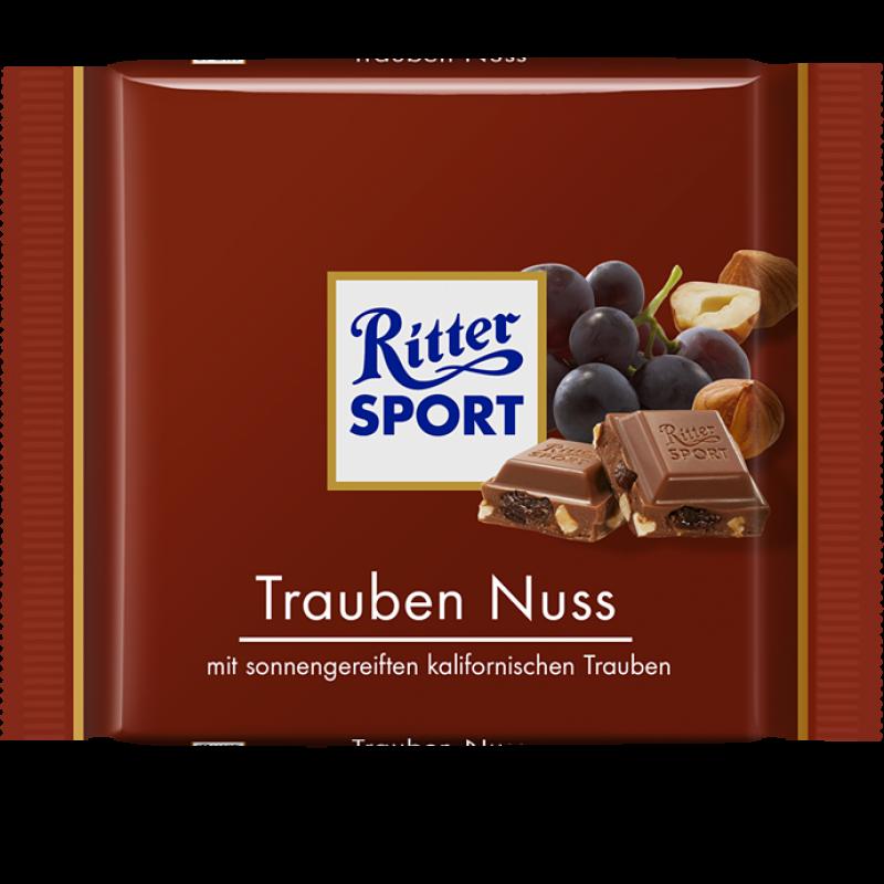 RITTER SPORT Trauben Nuss Schokolade. Lecker! Raisin