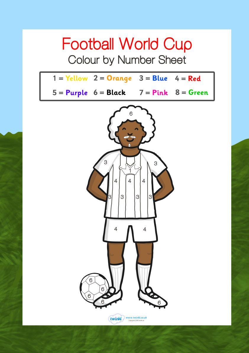 Football World Cup World Cup Colour By Numbers World Cup