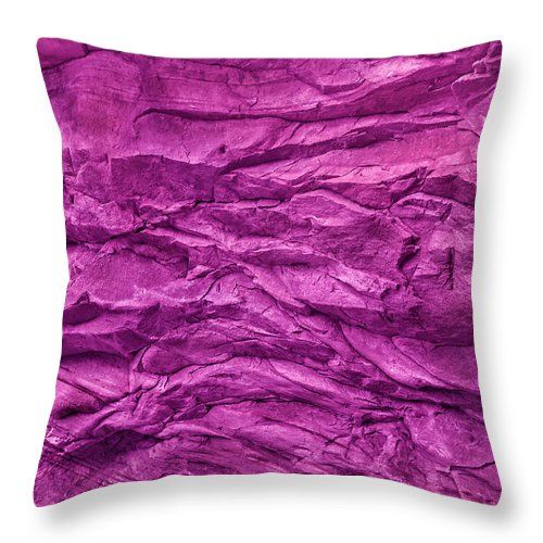 Stone Wall Texture In Pink Throw Pillow for Sale by Evgeniya Lystsova