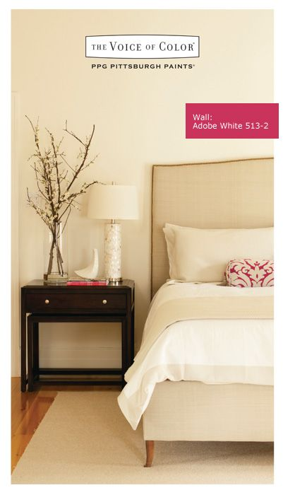 Ppg Voice Of Color Adobe White A Cool Clic To Warm Up Your Bedroom Devine