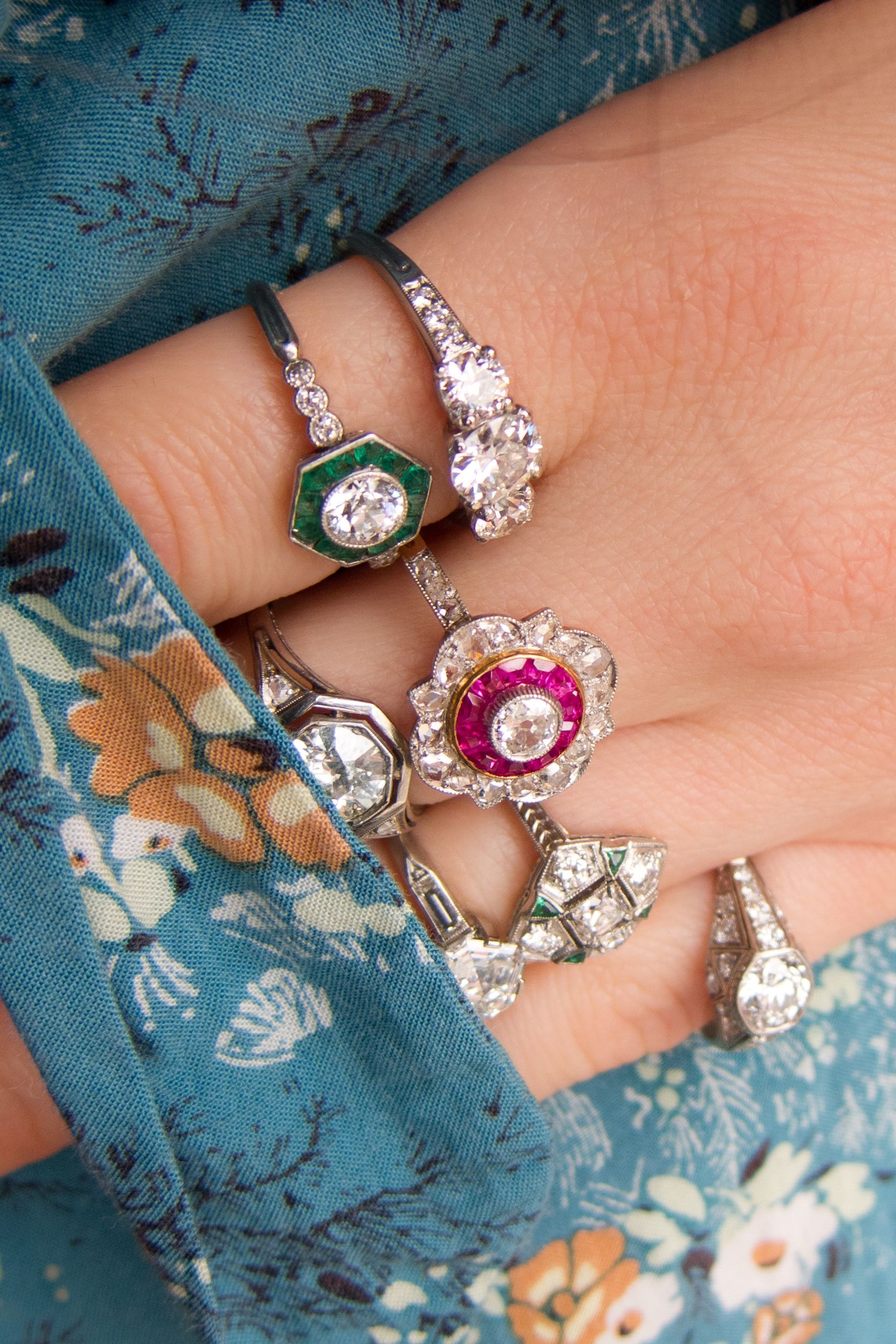 antique rings from Erstwhile Jewelry