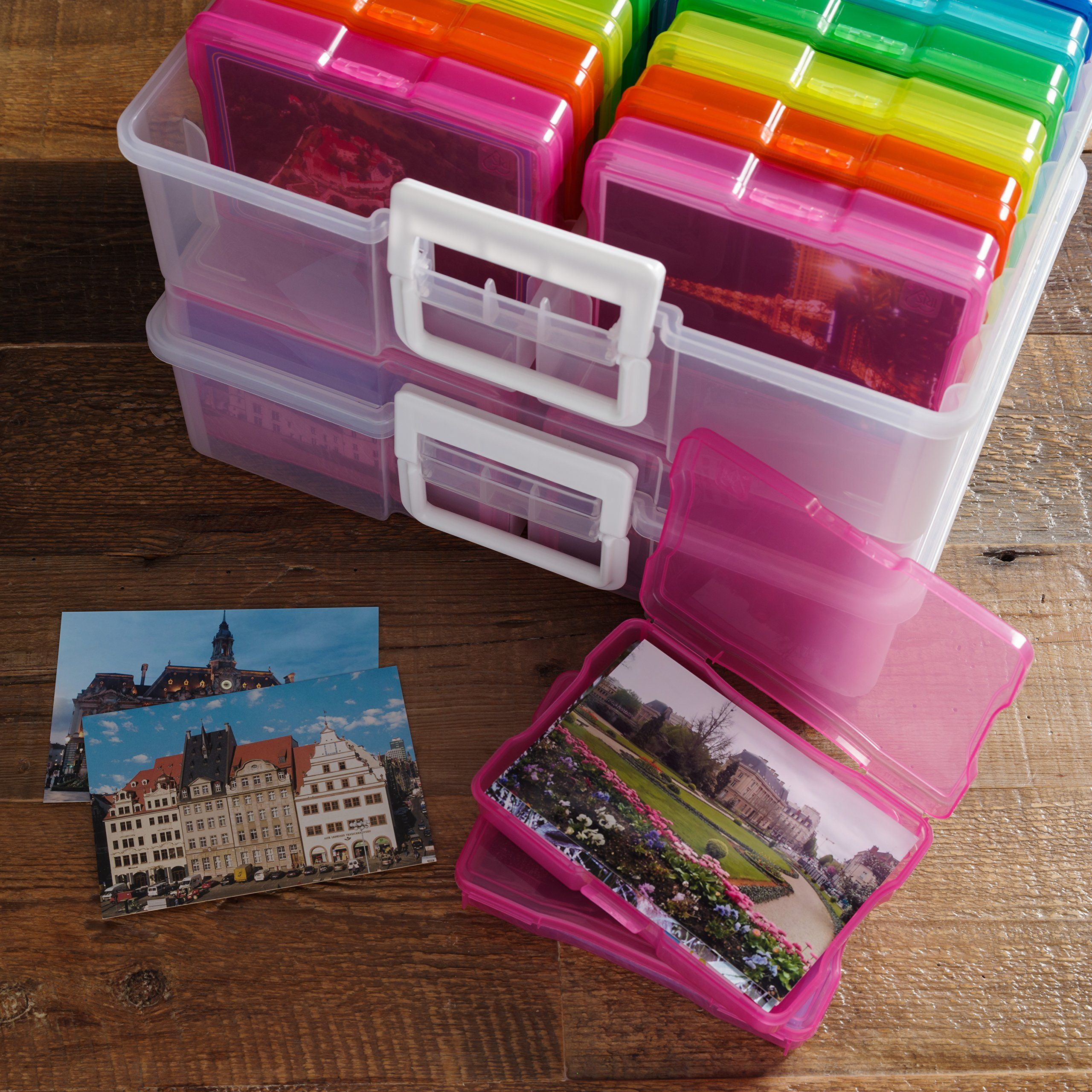 """Recollections Large Color Photo and Craft Keeper Holds 4/""""x6/"""" Photos 16 Cases"""