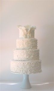 Maggie Austin wedding cake. Pretty much this biggest fan of those ruffles ever.