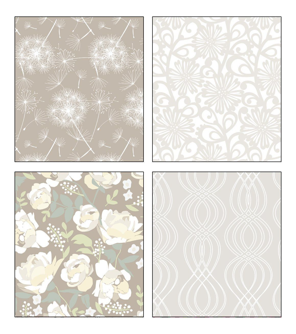 The Gift Wrap Company 4 Different Flower Design Medium Weight Wrapping Papers - 5 Feet x 30-Inch Roll (1 Roll Pearlized and 1 Roll Glittered with Gloss Finish) > Trust me, this is great! Click the image. : Wrapping Ideas