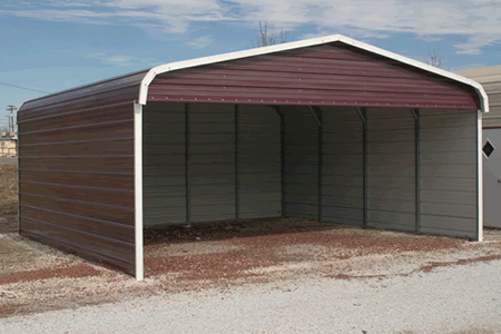 Car port offer affordable metal carports single double for Single garage with carport