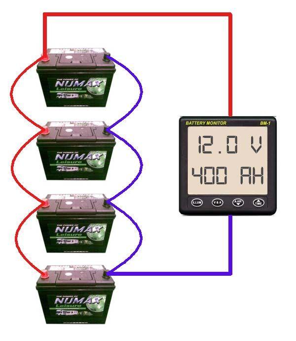 parallel battery bank wiring diagram wolfden pinterest diagram rh pinterest com  wiring diagram for solar battery bank