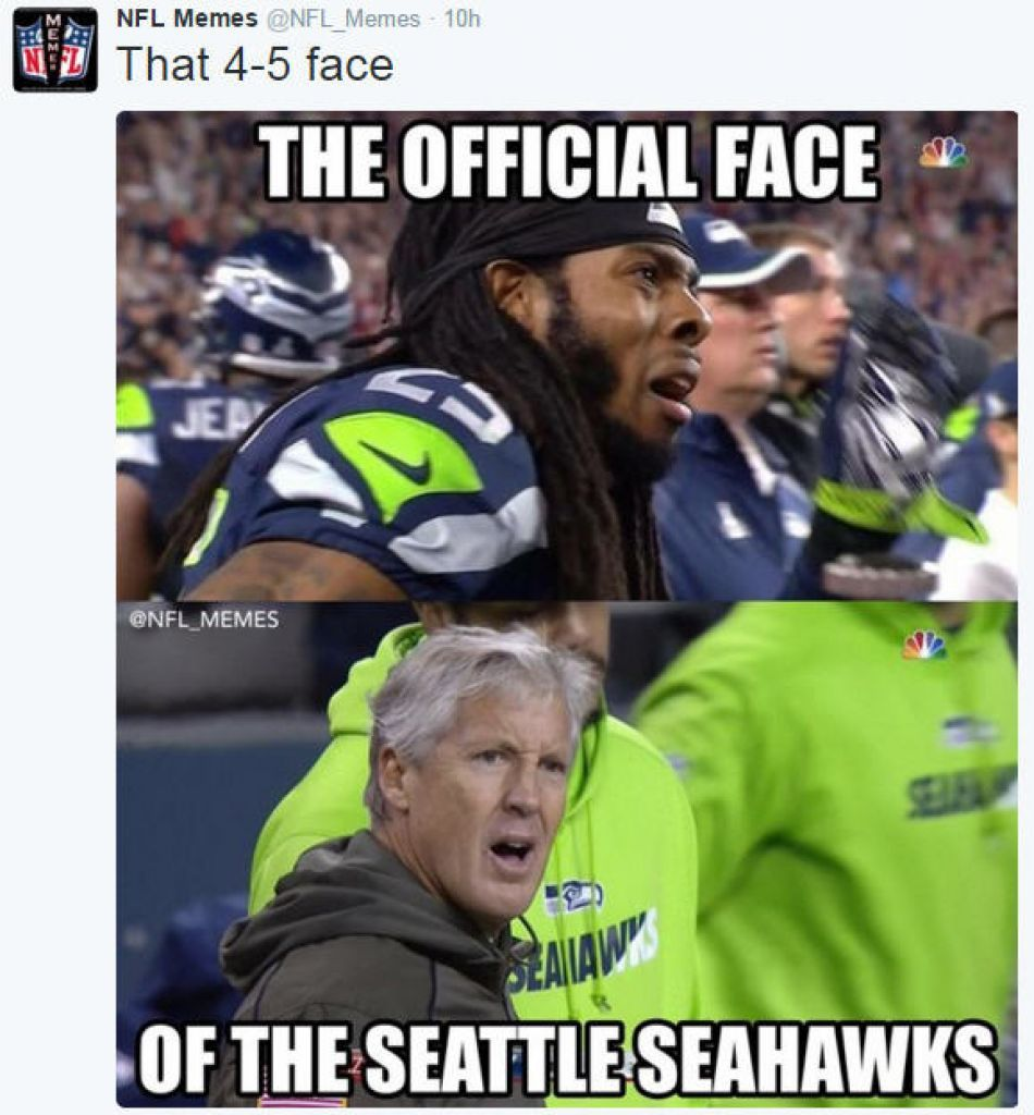 Cowboys Seahawks Manning Savaged By Memes Funny Football Memes Football Funny Funny Sports Memes