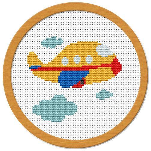 My Little Airplane Cross Stitch Pattern PDF by Atinyshop on Etsy, $4.00