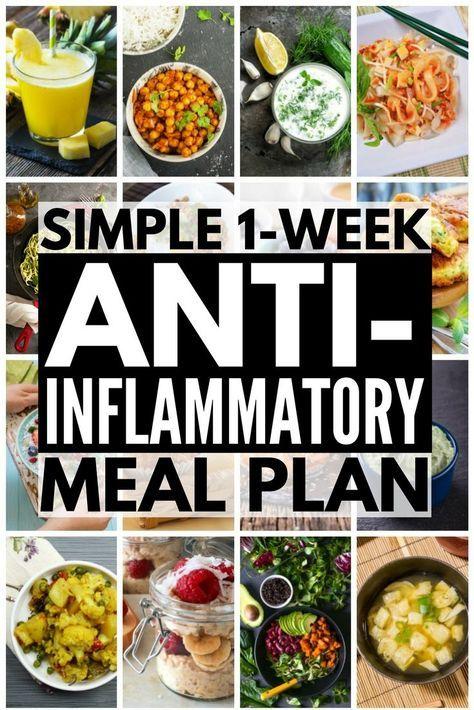 sample menu for anti-inflammatory diet