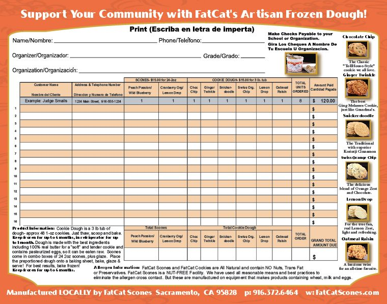 Fundraiser Flyer Order Form Fundraiser ideas – Fund Raiser Order Form