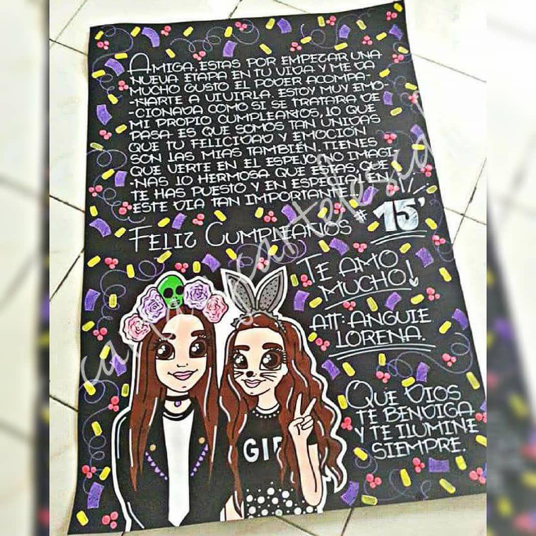 Cartel En Cartulina Negra Wsp 3205797879 Cartulinas De Feliz Cumpleaños Regalos Para Mejores Amigos Regalos Para Mejor Amigo