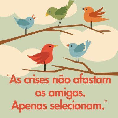 P P P As Crises Nao Afastam Os Amigos Apenas Selecionam P