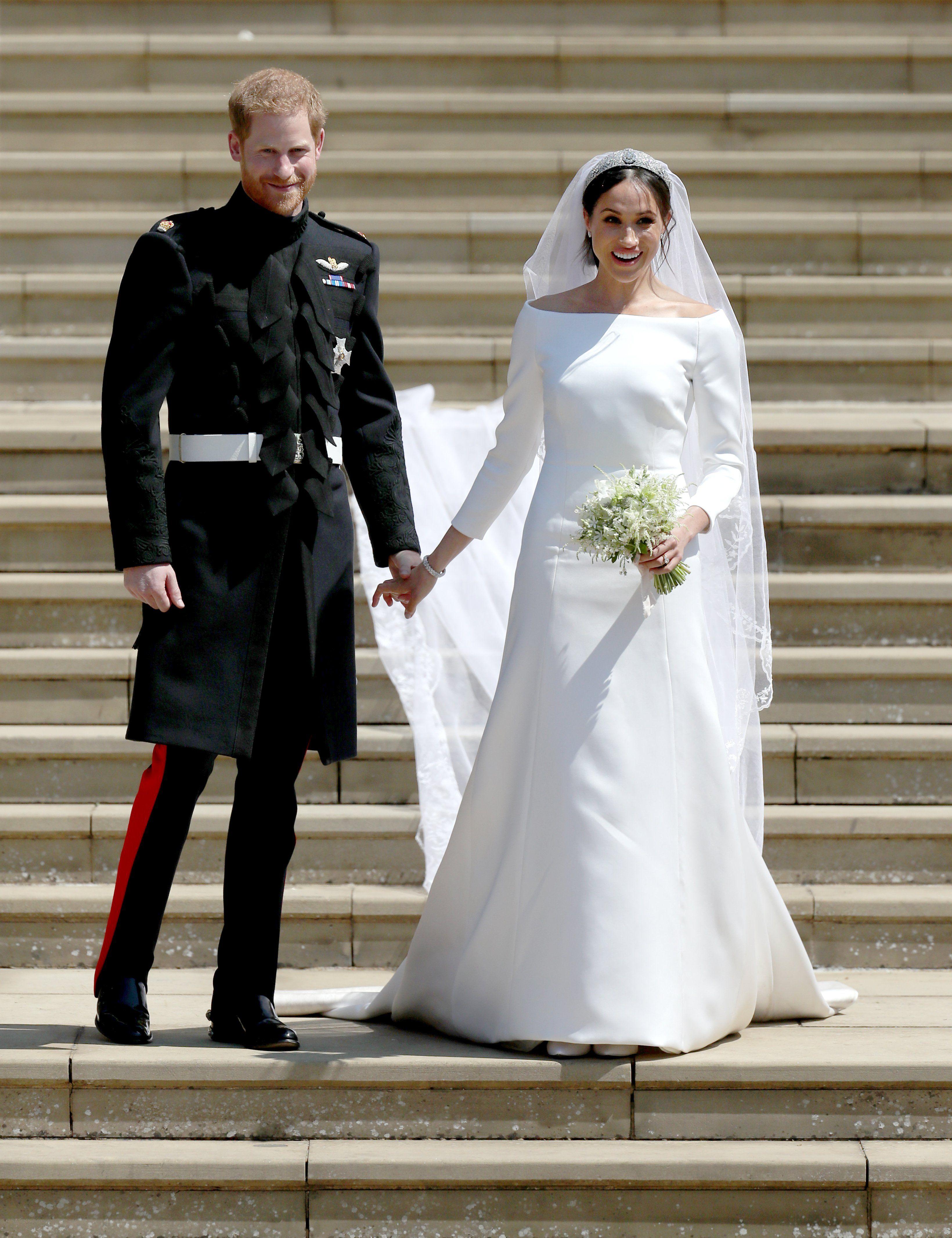Os Vestidos De Noiva De Meghan Markle E Kim Kardashian Têm
