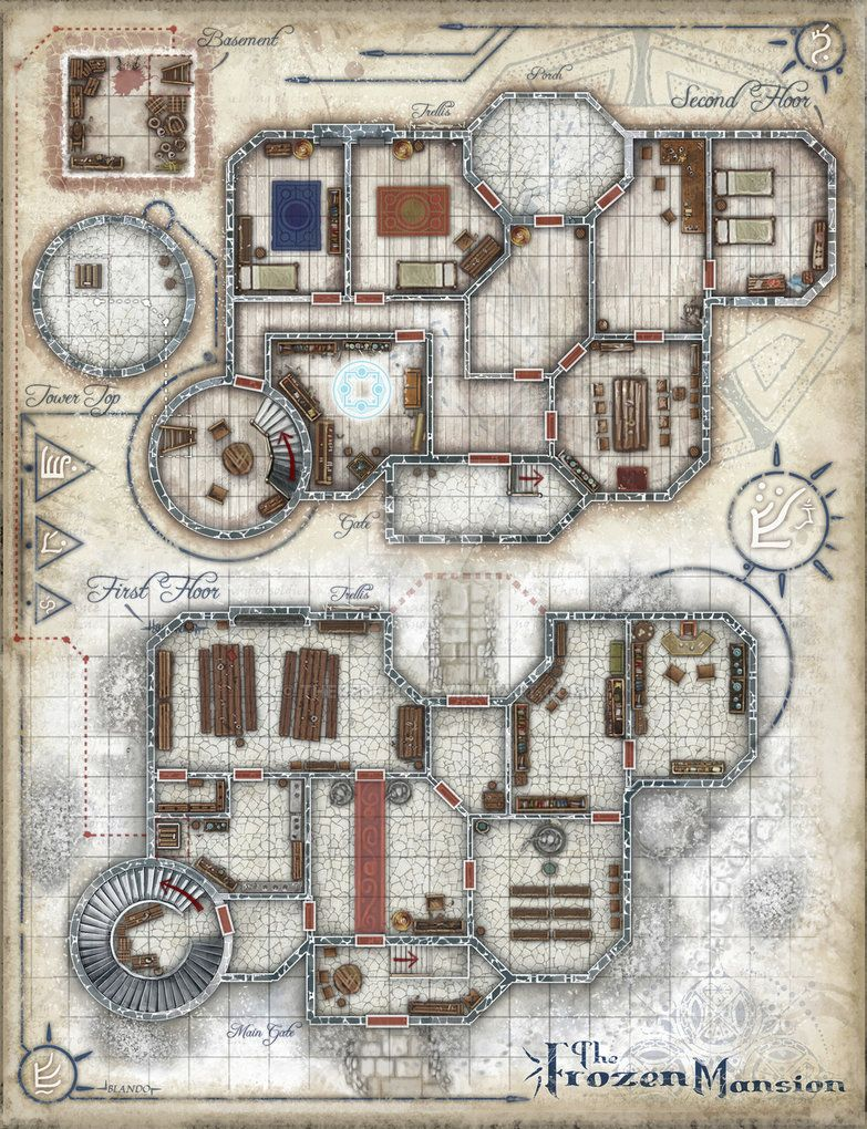 The frozen mansion by theredepic pathfinder maps for House map maker