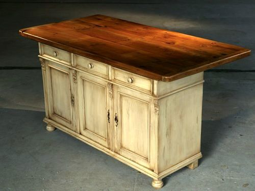 White Farmhouse Kitchen Island | Kitchen island furniture ...