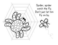 Mini Bingo Stamper Spider page