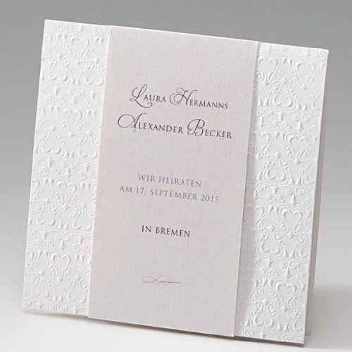 Schöne Banderole Einladungskarten Hochzeit Karte Hochzeit