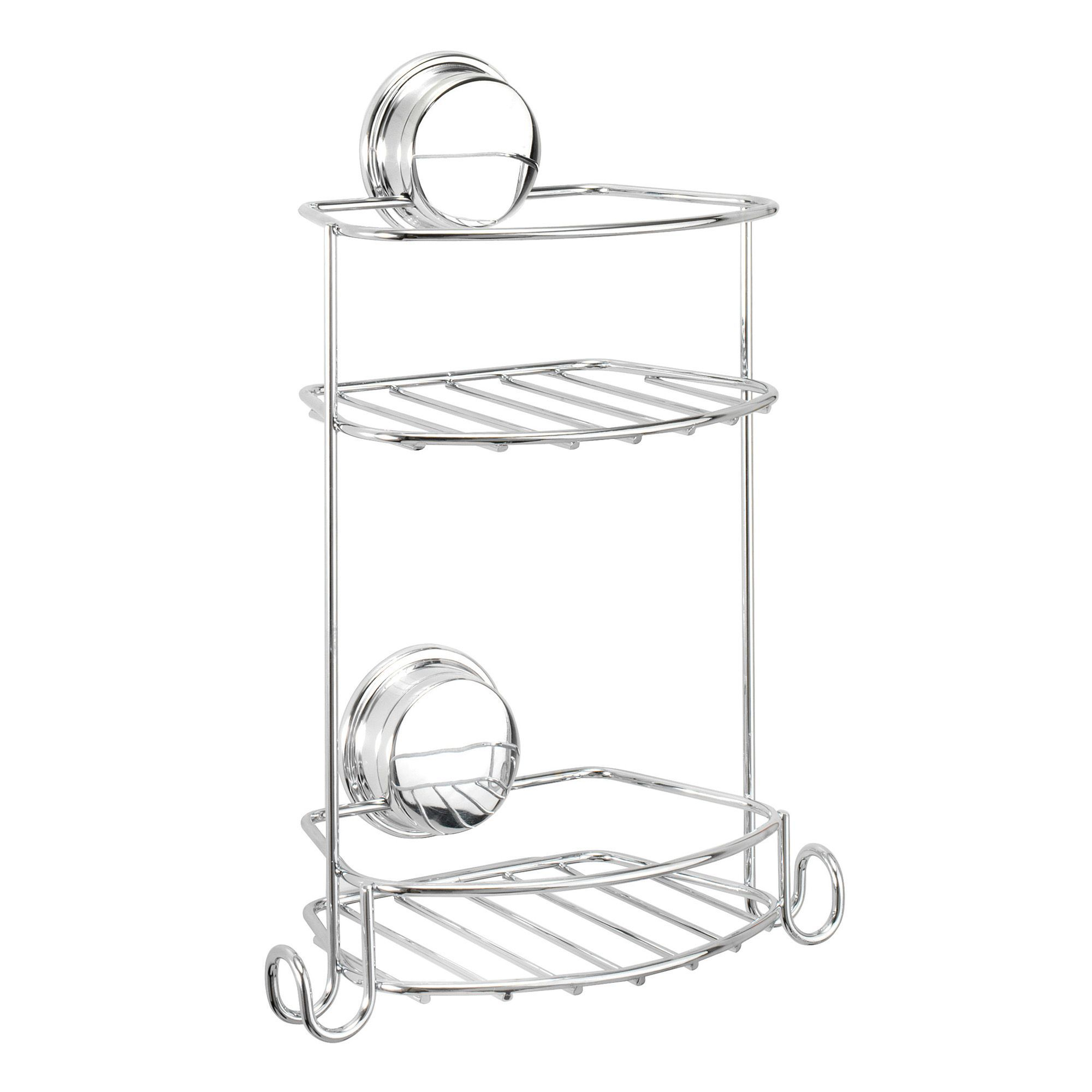 Croydex Stick \'N\' Lock Plus Chrome Effect Mild Steel Storage Basket ...