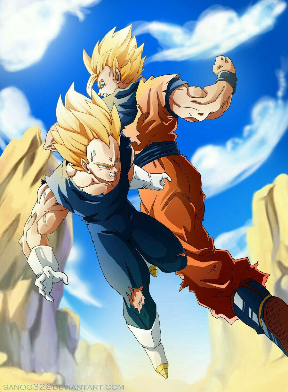 Goku Vegeta Dragon Ball Z Devianart Dibujos Para