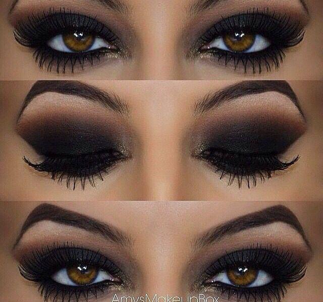 Makeup; maquiagem; olho; cor preta; marrom