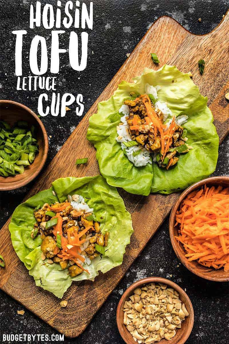 Skip the meat and make these light and fresh Hoisin Tofu Lettuce Cups for a fast and easy weeknight dinner