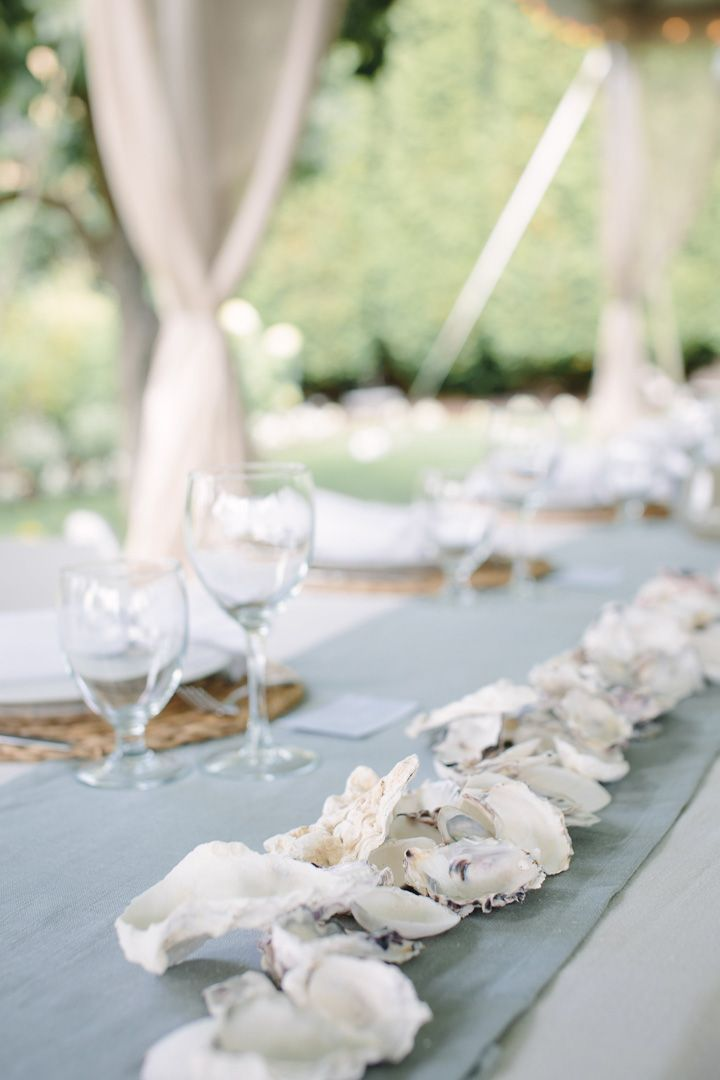Shells wedding table runner | fabmood.com #beachwedding #weddingideas