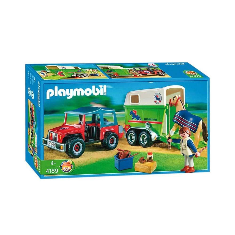 Kob Playmobil Hestetrailer Og Jeep Nr 4189 In 2020