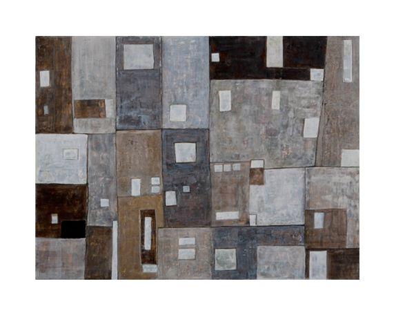 Finestre. cemento bianco, bitume, pigmenti naturali su tavola cm 80 x 60 2014