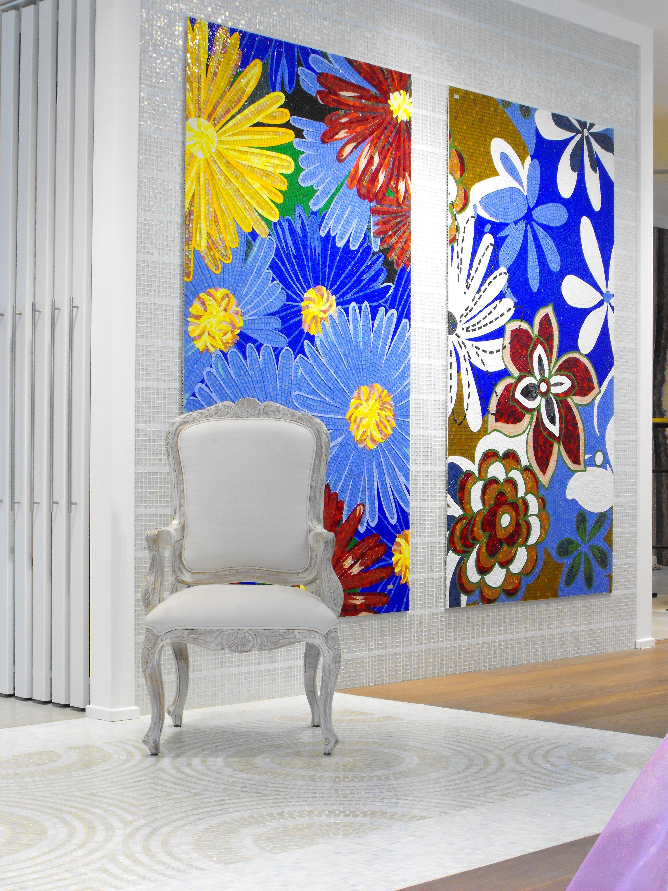 pannelli floraeli in mosaico artistico. www.stanzedautore.it mobili ...