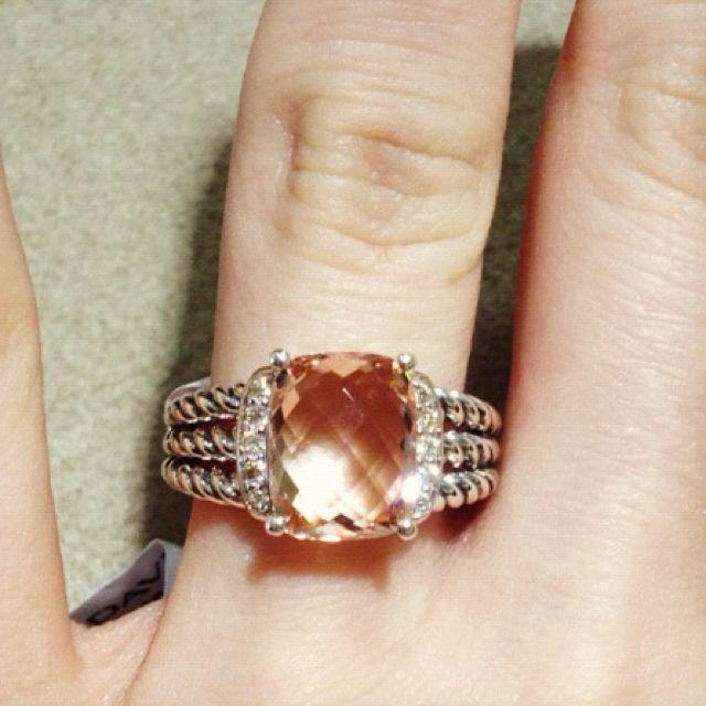David Yurman Petite Wheaton ring in Morganite diamond...the thing I want  most at the moment. 4b0fb87da6bb
