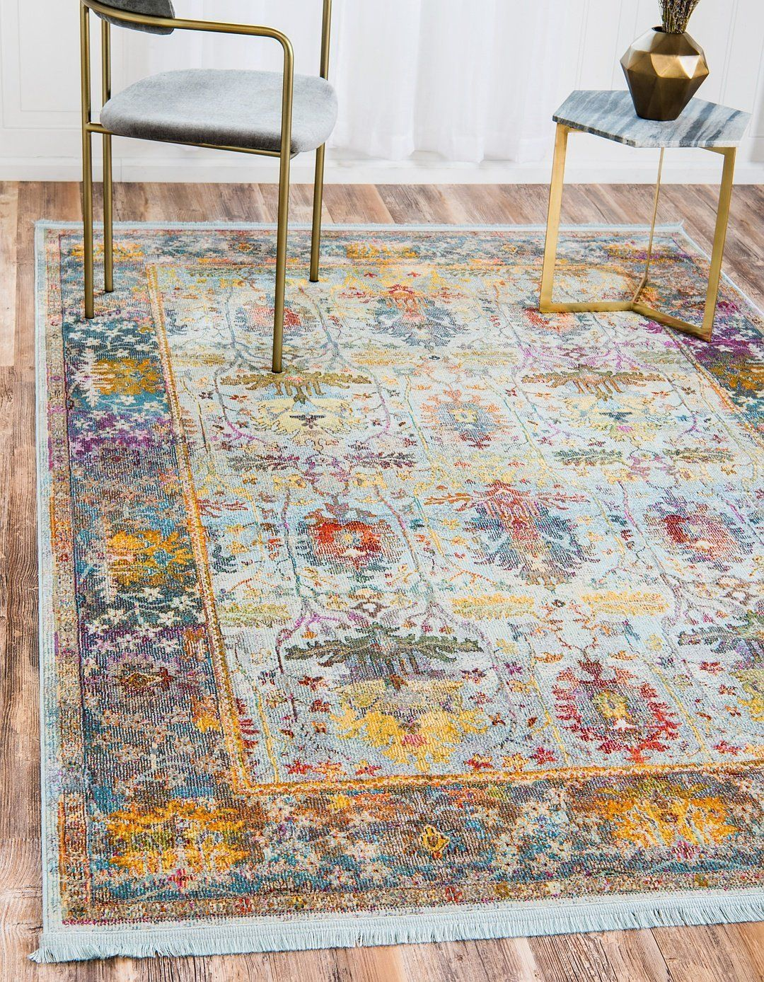 A2z Rug Light Blue 8 4 X 10 Feet St Tropez Collection Traditional And Modern Area Rugs And Carpet Light Blue Area Rug Modern Area Rugs Area Rugs