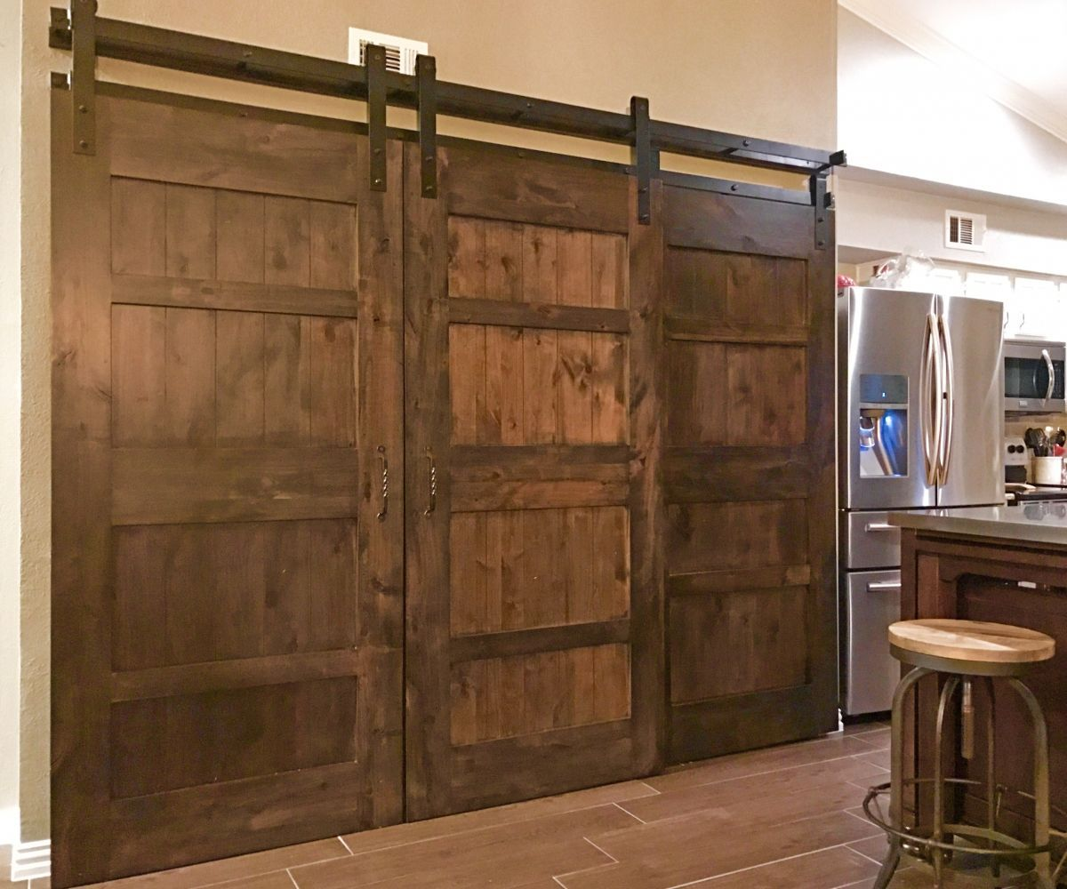 Half Bifold Half Barn Door Combined Google Search Barn Door Cabinet Bypass Barn Door Hardware Barn Door Hardware