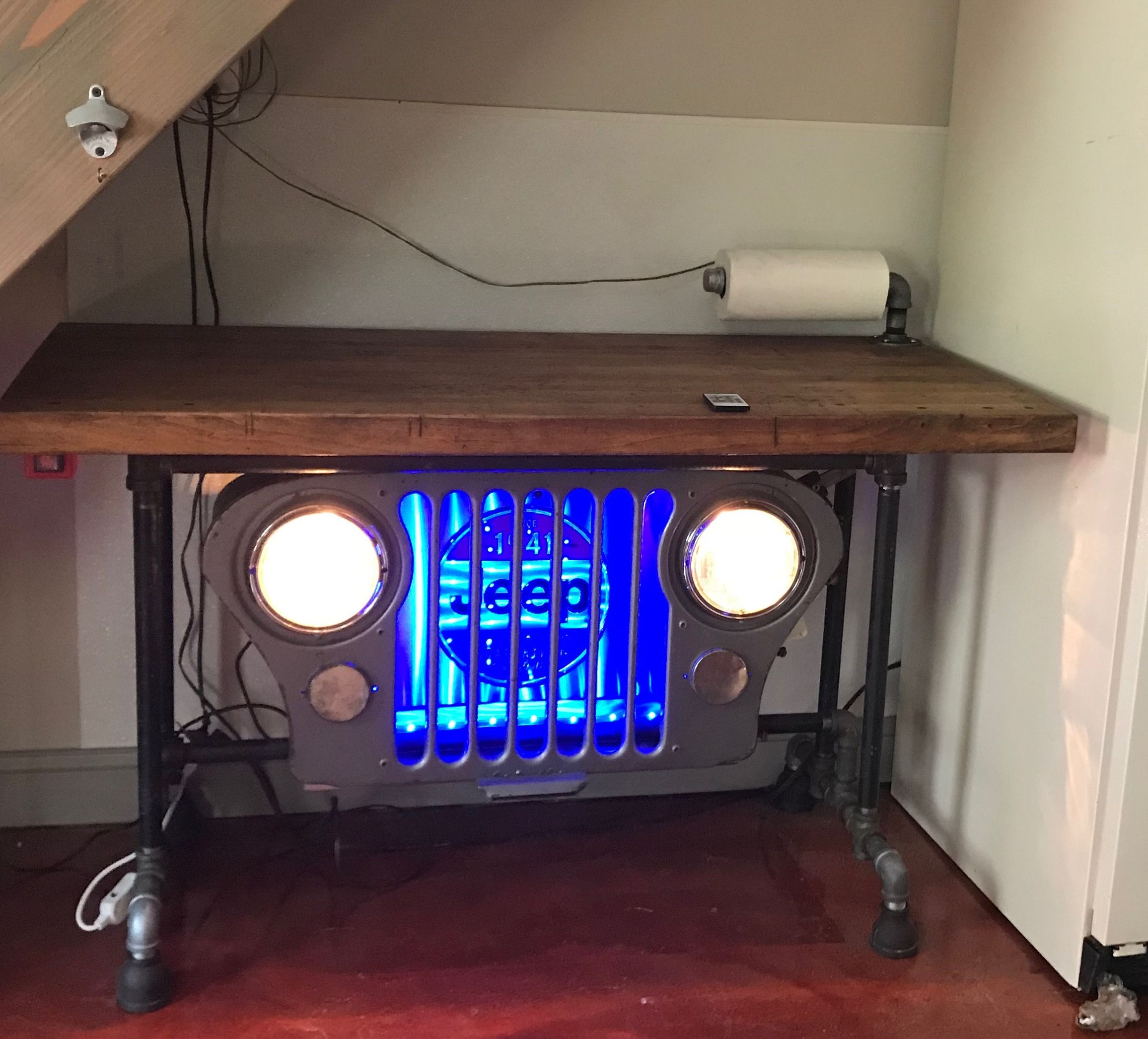 jeep cj5 grill table and chopping block top [ 2312 x 2092 Pixel ]