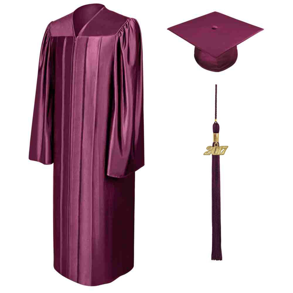 SHINY MAROON CAP, GOWN & TASSEL - All of our graduation sets arrive ...