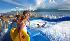 Has anyone tried a FlowRider on a Royal Caribbean cruise? I think it looks like fun...