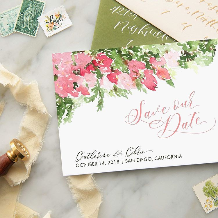 Save The Dates Should Go Out 6 Months Before Your Wedding We Say Because It Depends On Your Situation If Al Invitation Design Save The Date Invitations