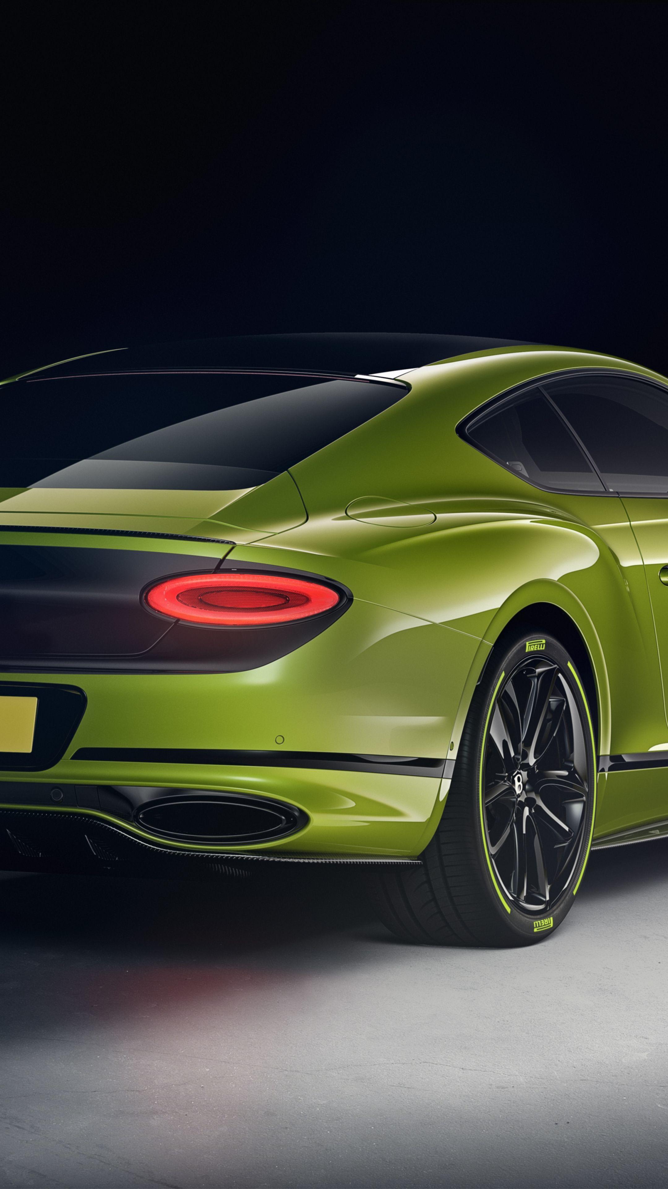 2160x3840 Green car, luxurious, Bentley Continental GT