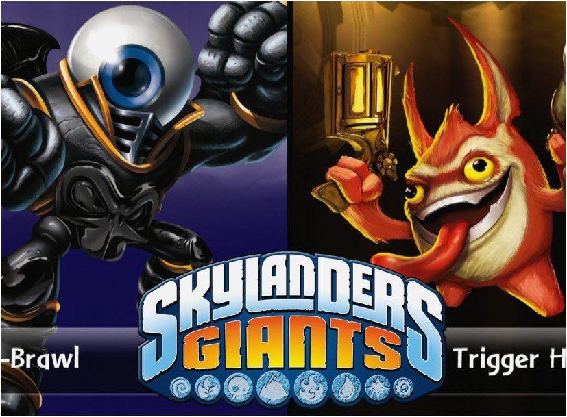 Skylanders Giants Coloring Pages Tree Rex Footage Skylanders Giants Eye Brawl Vs Trigger Happy Versus