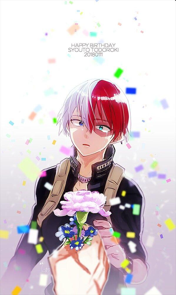 Happy Birthday to Todoroki Shoto!   Anime happy birthday ...