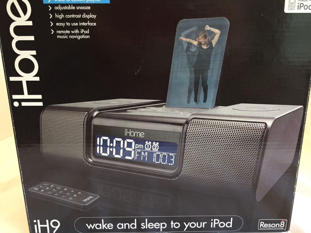IH9 system  iHome iH9 Black Wake and sleep to your iPod